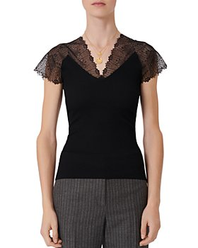 Maje - Lilio Lace-Trim Top