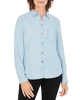 Foxcroft - Button Front Denim Shirt