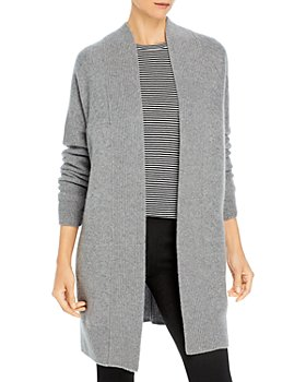 Vince - Ribbed Trim Cashmere Cardigan