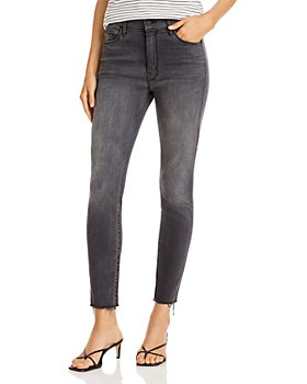 MOTHER - High-Rise Cropped Skinny Jeans in Lighting Up Lanterns