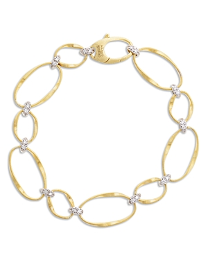 Marco Bicego 18K Yellow Gold Onde Diamond Station Bracelet-Jewelry & Accessories