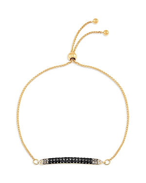 Bloomingdale's Black and White Diamond Bar Bracelet in 14K Yellow Gold - 100% Exclusive