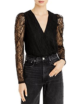WAYF - Shirley Lace Sleeve Bodysuit