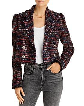 AQUA - Tweed Puff Sleeve Blazer - 100% Exclusive