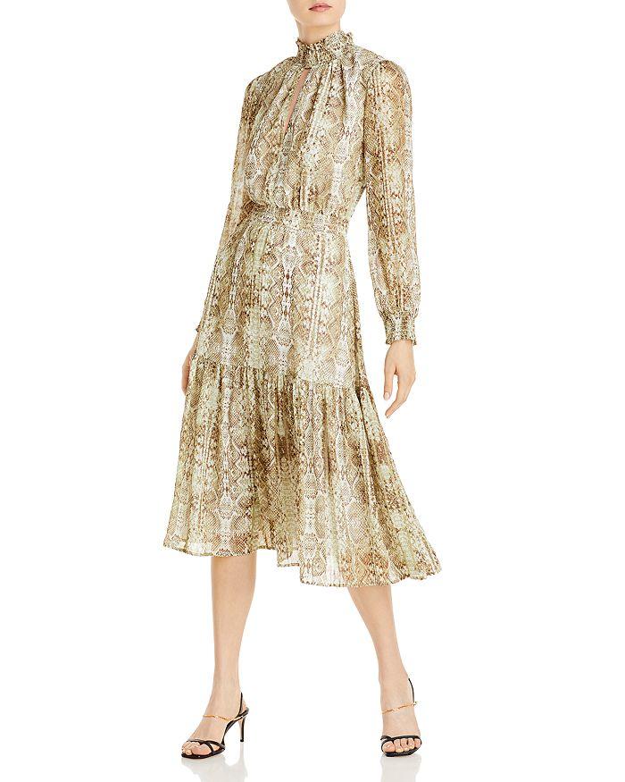 WAYF - Alston Tiered Smocked Midi Dress