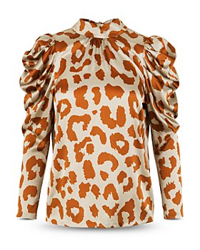 Notes du Nord - Rihanna Printed Puff Sleeve Blouse