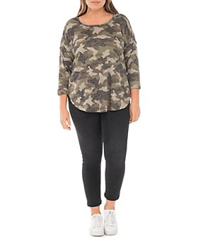 B Collection by Bobeau Curvy - Plus Size Alicia Leopard Print Top