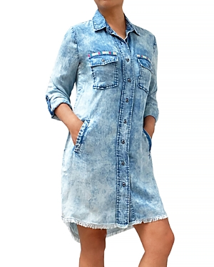 Daydreaming Embroidered Shirt Dress