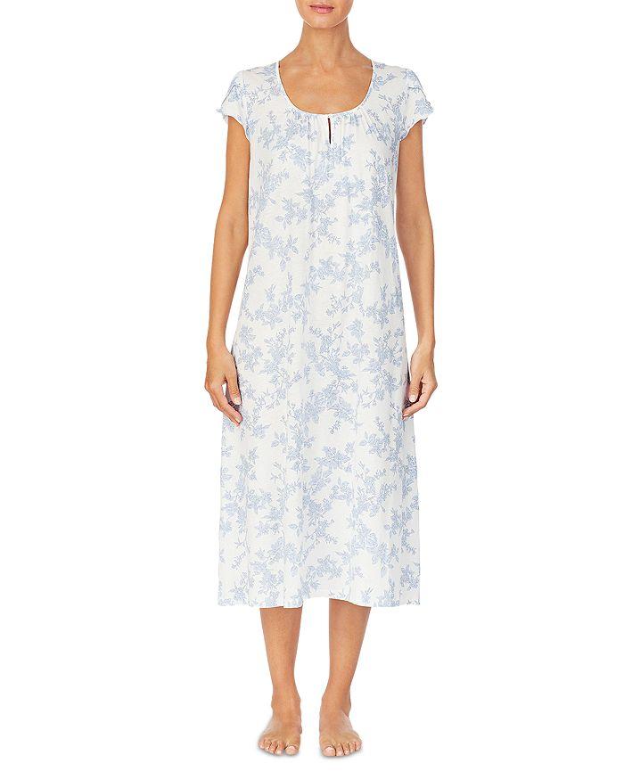 Ralph Lauren - Cap Sleeve Floral Print Nightgown