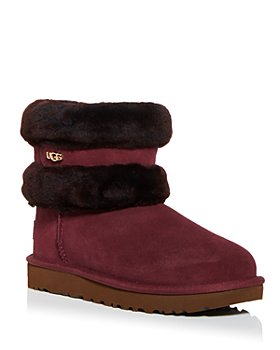 UGG® - Women's Fluff Shearling Mini Belted Booties