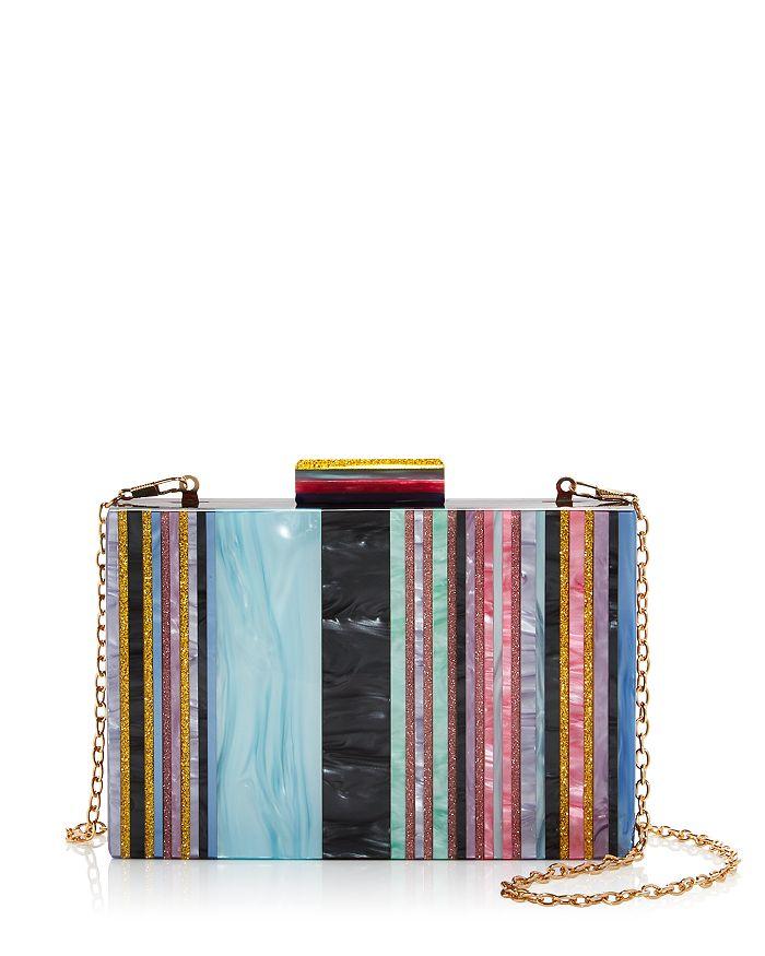 Sondra Roberts - Mini Stripe Resin Box Clutch