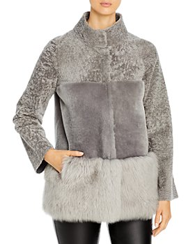 Maximilian Furs - Reversible Paneled Shearling Coat