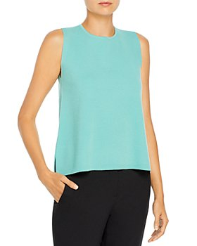 Eileen Fisher - Sleeveless Wool Shell Top