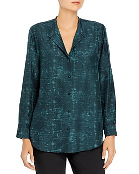 Eileen Fisher Petites - Printed Silk Blouse