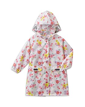 Miki House - Girls' Floral Print Raincoat