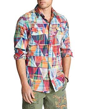 Polo Ralph Lauren - Cotton Madras Patchwork Classic Fit Button Up Shirt