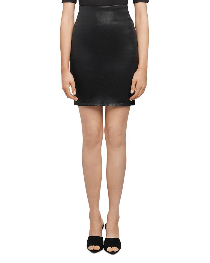 L Agence L'AGENCE BRANDY COATED PENCIL SKIRT