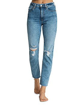 rag & bone - Nina Ripped Ankle Jeans in Bloomfield