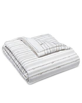 ED Ellen Degeneres - Block Stripe Ultra Soft Plush Blankets