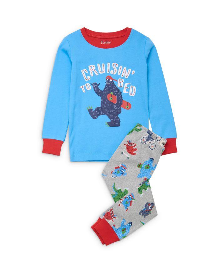 Hatley Boys' Monsters Cotton Pajamas - Little Kid, Big Kid    Bloomingdale's
