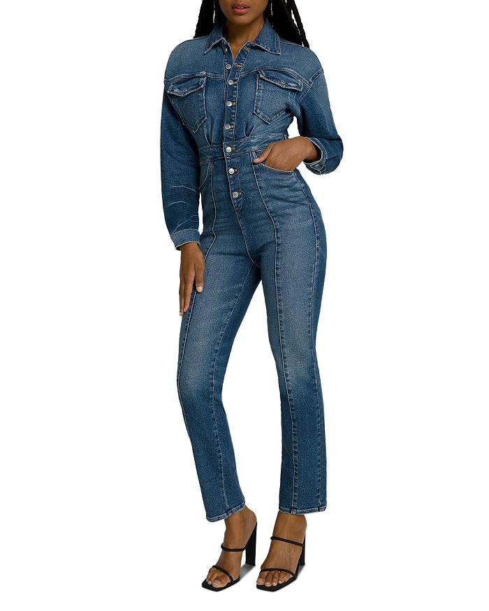 Good American - Denim Jumpsuit in Blue190