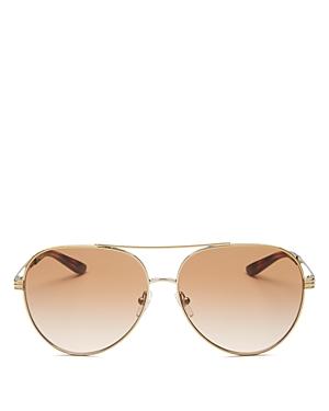 Tory Burch Women\\\'s Brow Bar Aviator Sunglasses, 59mm
