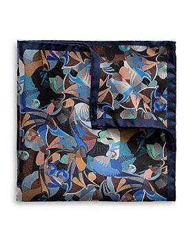 Eton - Eton Futurism Silk Abstract Print Pocket Square