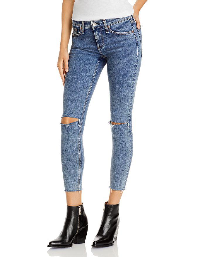 rag & bone - Dre Low Rise Ripped Skinny Jeans in Oak Knoll