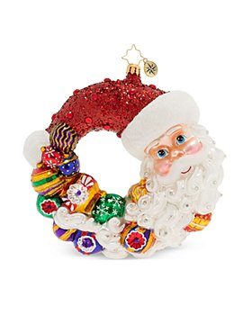Christopher Radko - Santa Comes Full Circle Wreath Ornament