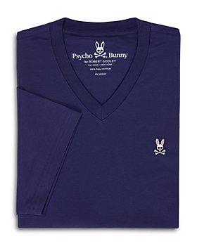 Psycho Bunny - Pima Cotton Embroidered Logo Graphic V-Neck Tee