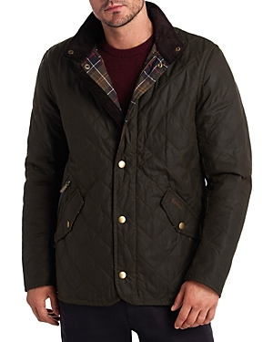 Barbour Chelsea Diamond Quilted Waxed Jacket - 100% Exclusive