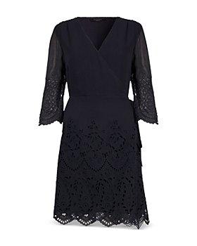 ALLSAINTS - Zariah Eyelet Embroidered Wrap Dress