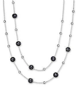 IPPOLITA - IPPOLITA Sterling Silver Rock Candy Mini Lollipop and Ball Necklace in Black Onyx