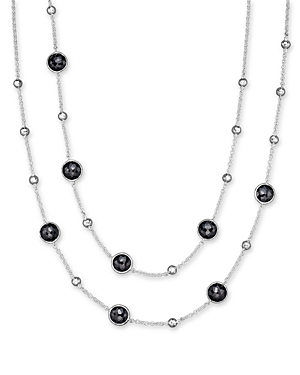 Ippolita Sterling Silver Rock Candy Mini Lollipop and Ball Necklace in Black Onyx
