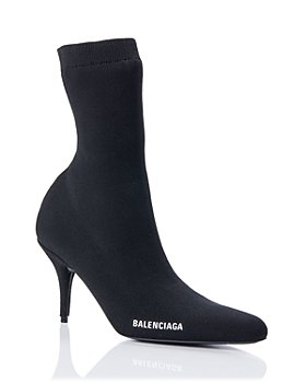 Balenciaga - Women's Round Toe Knit Booties