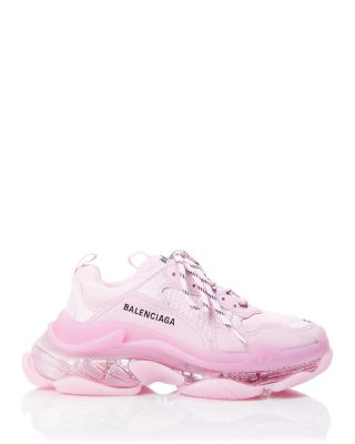 light pink platform sneakers