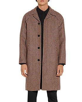 Sandro - Camille Wool Houndstooth Coat
