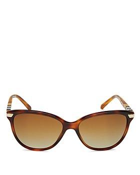 Burberry - Women's Polarized Cat Eye Sunglasses, 57mm