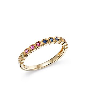 Bloomingdale's - Multicolor Sapphire Band in 14K Yellow Gold - 100% Exclusive