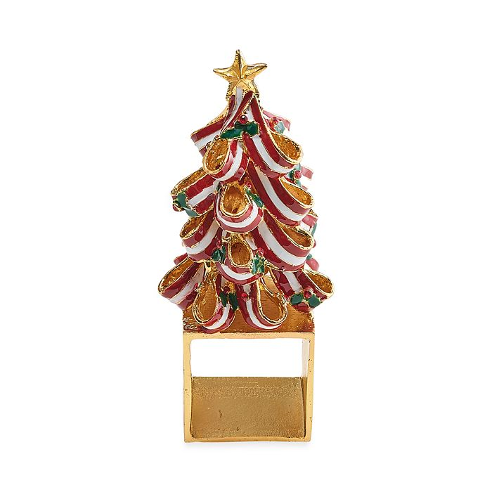 Kim Seybert - Holiday Tree Napkin Ring, Set of 4