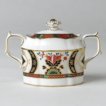 "Royal Crown Derby - ""Chelsea Garden"" Covered Sugar Bowl"