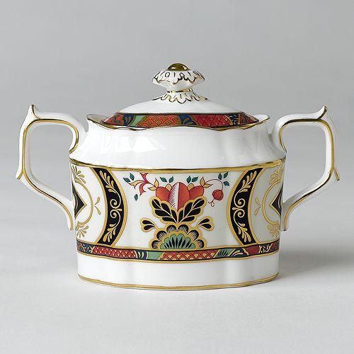 "Royal Crown Derby - ""Chelsea Garden"" Covered Sugar Bowl"