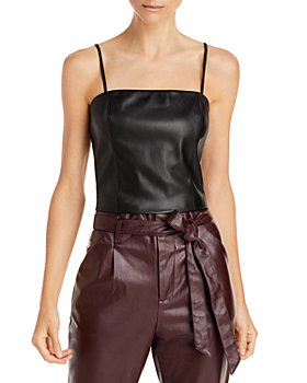 Lucy Paris - Faux Leather Camisole