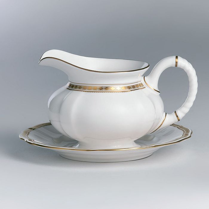 """Royal Crown Derby - """"Carlton Gold"""" Sauce Boat Stand"""