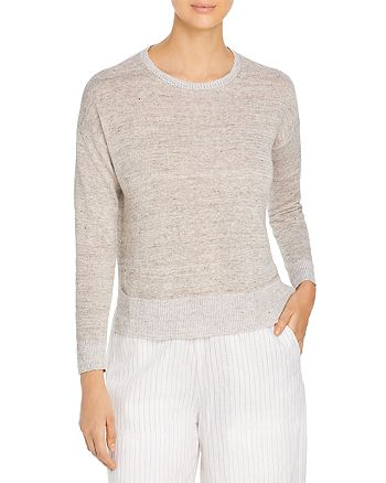 Eileen Fisher Petites - Round Neck Linen Sweater