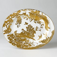 """Royal Crown Derby - """"Gold Aves"""" Oval Platter, 13"""""""