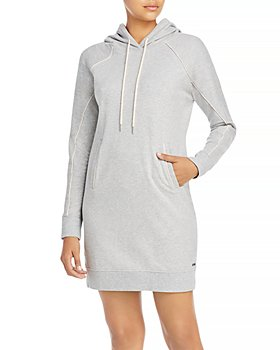 Marc New York - French Terry Hooded Sweatshirt Dress