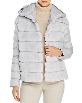Maximilian Furs - Quilted Rabbit Fur Coat – 100% Exclusive