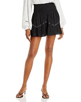 Ramy Brook - Cora Metallic Stripe Mini Skirt