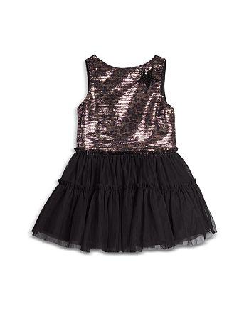 Pippa & Julie - Girls' Leopard Sequin Ruffle Skirt Dress - Baby